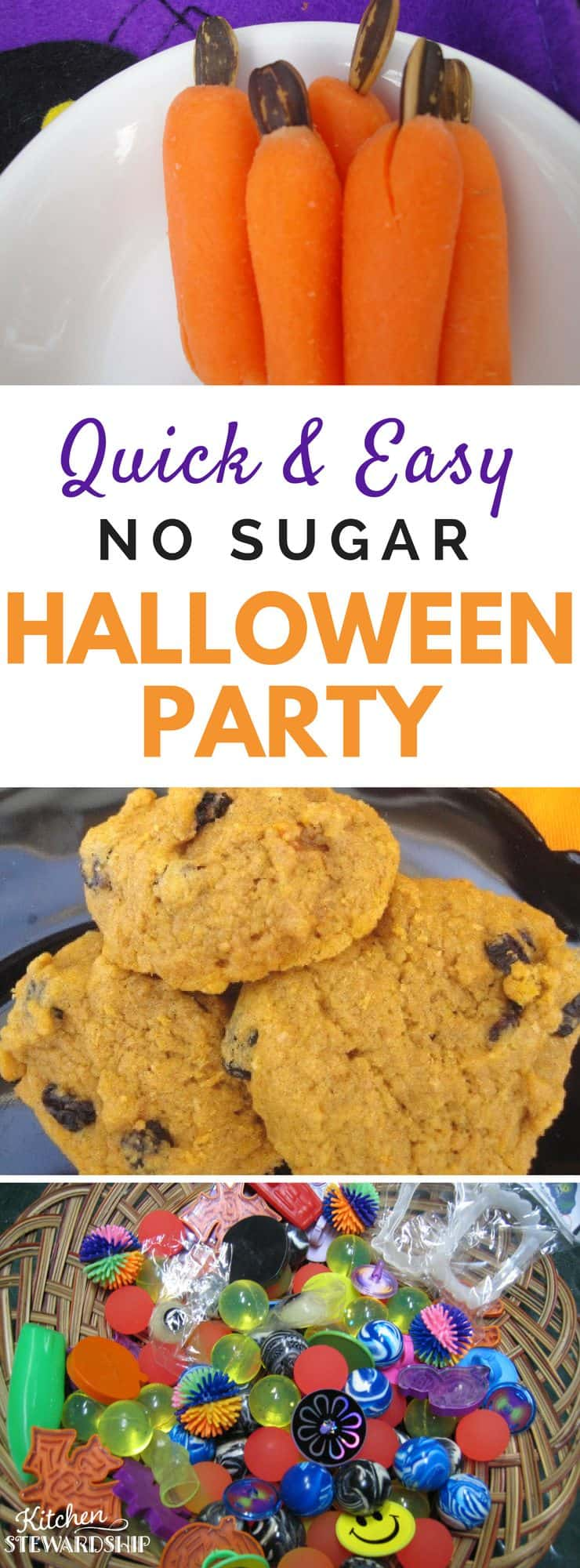 Healthy school Halloween party plan, complete with more food ideas than you need plus games, activities, and minimal prep work needed.