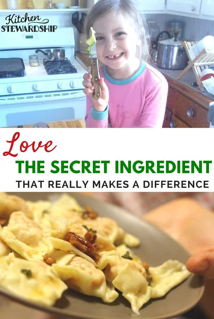 Preparing food for family and friends? When your secret ingredient is love everyone can taste and feel the difference!