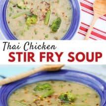 Thai Chicken Stir Fry Soup