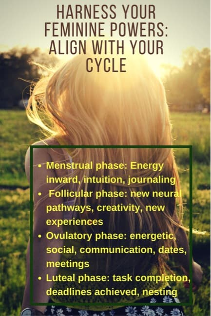 Women's Wellness series - learn the powers of your cycle, created by your hormones each month and how to use them to benefit you