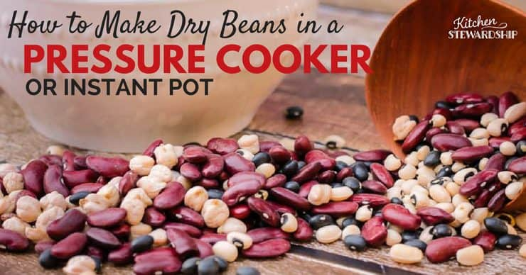 How long does it take to cook dry beans in a pressure cooker? Less than an hour for most beans - here's a tutorial