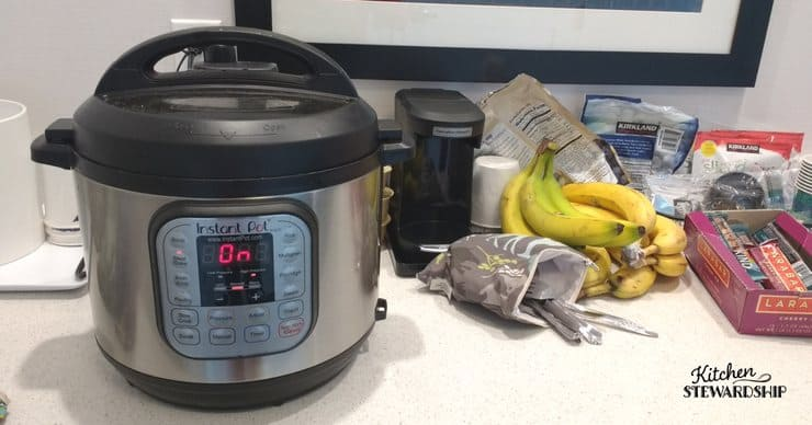 cooking with an Instant Pot in a hotel room
