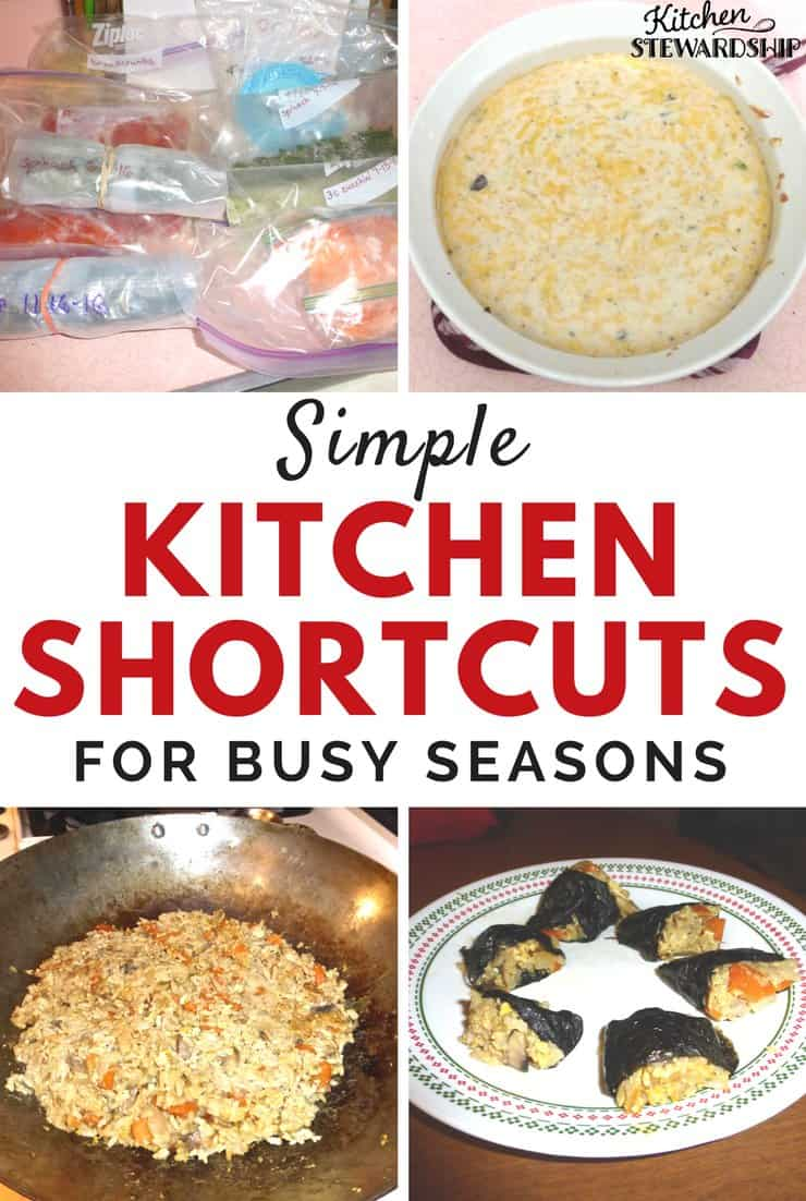 Easy kitchen shortcuts to make it possible to get dinner on the table using real food