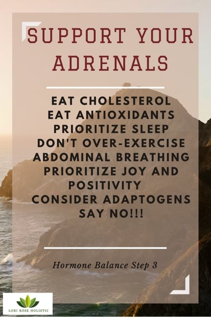Support adrenals