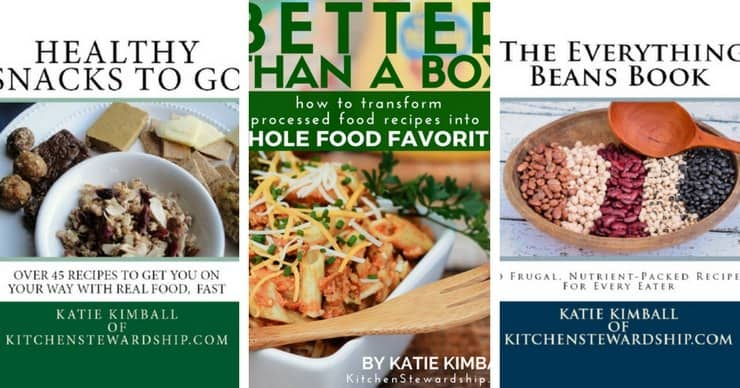 Covers of three cookbooks by Katie Kimball