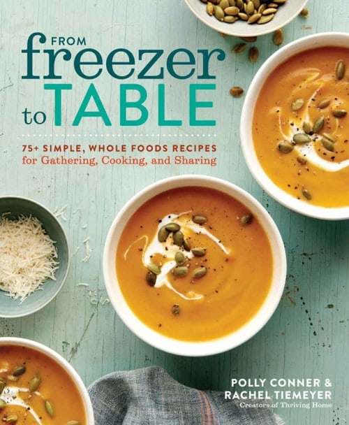 Cookbook cover - From Freezer to Table
