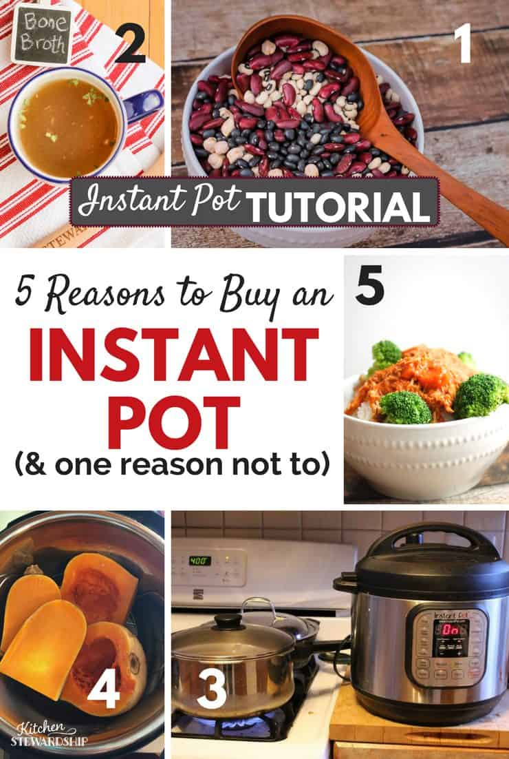 Wondering if you should get an Instant Pot? From someone who left it in the box for half a year and is still finding reasons to love it, here are the top 5 happy reviews...or 6. And one thing that's not a real advantage. Maybe 2.