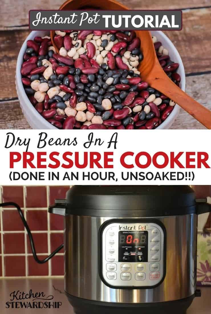 Get out that pressure cooker or Instant Pot for an easy way to cook dry beans and legumes - soaked or unsoaked!