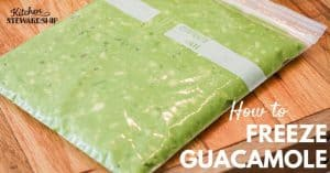How to freeze guacamole. Recipe and tips. Easily store storage bags by freezing flat.