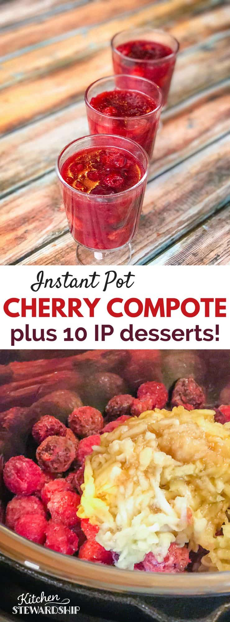 Instant Pot Cherry Compote recipe - quick and delicious. Paleo and AIP this recipe is for everyone...but it's so good you may not want to share!