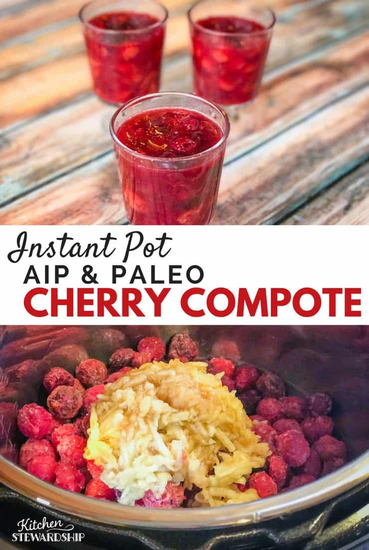 Instant Pot Cherry Compote recipe - AIP and Paleo but also good enough to share with anyone!