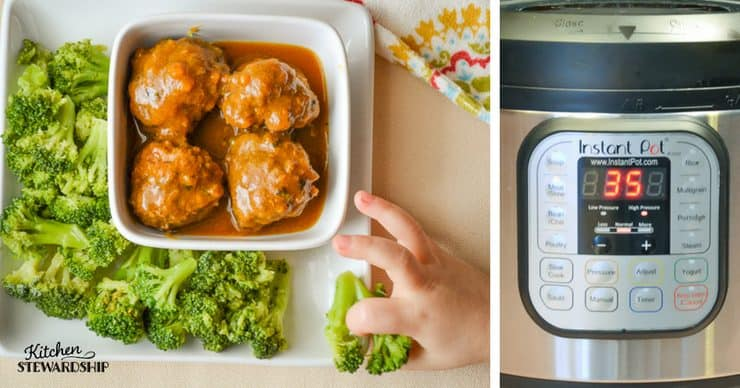 AIP and GAPS friendly Instant Pot meatballs