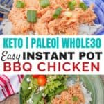 Easy BBQ chicken for slow cooker or pressure cooker - Whole30 and Paleo compliant!