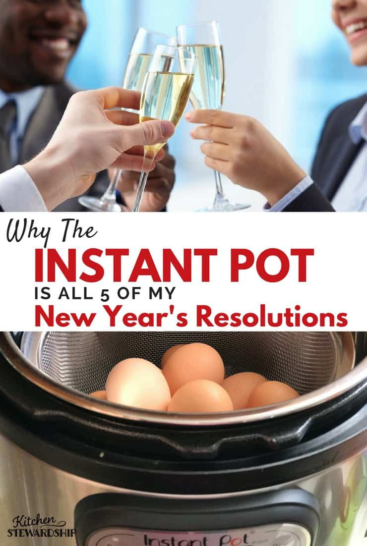 Tips for using the Instant Pot to accomplish goals this year- save money, time, eat healthier...all from a kitchen appliance!