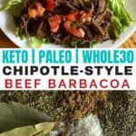Instant pot or slow cooker chipotle beef recipe - easy to make and it's gluten free and paleo! Take an affordable cut of beef and make it delicious! #whole30 #paleo #grainfree #freezercooking #freezermeals #cleaneatingrecipes #realfood