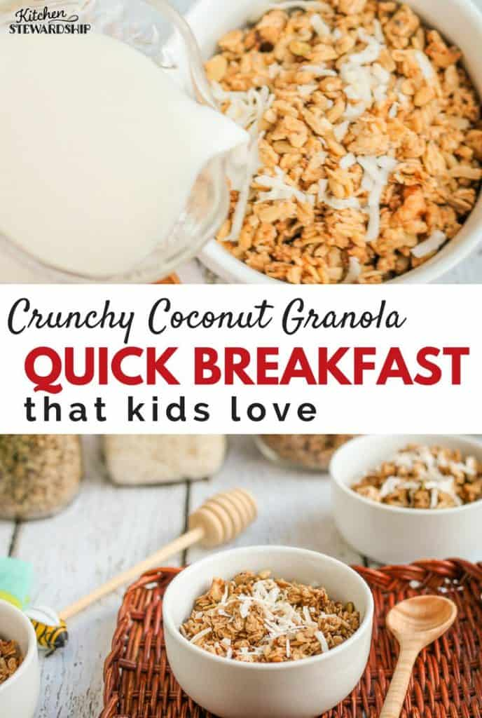 healthy homemade granola with a special crunch