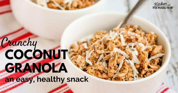 crunchy coconut granola recipe