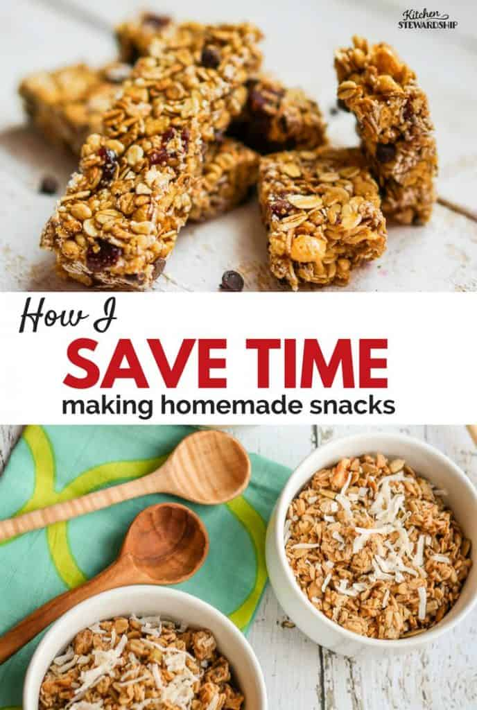 Recipe for simple homemade granola and how it saves time to do MORE!!