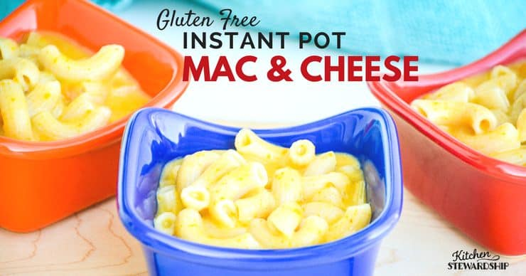 Simple and delicious Gluten Free Instant Pot Mac and cheese - kid tested, mom approved! Easy recipe for weeknights.