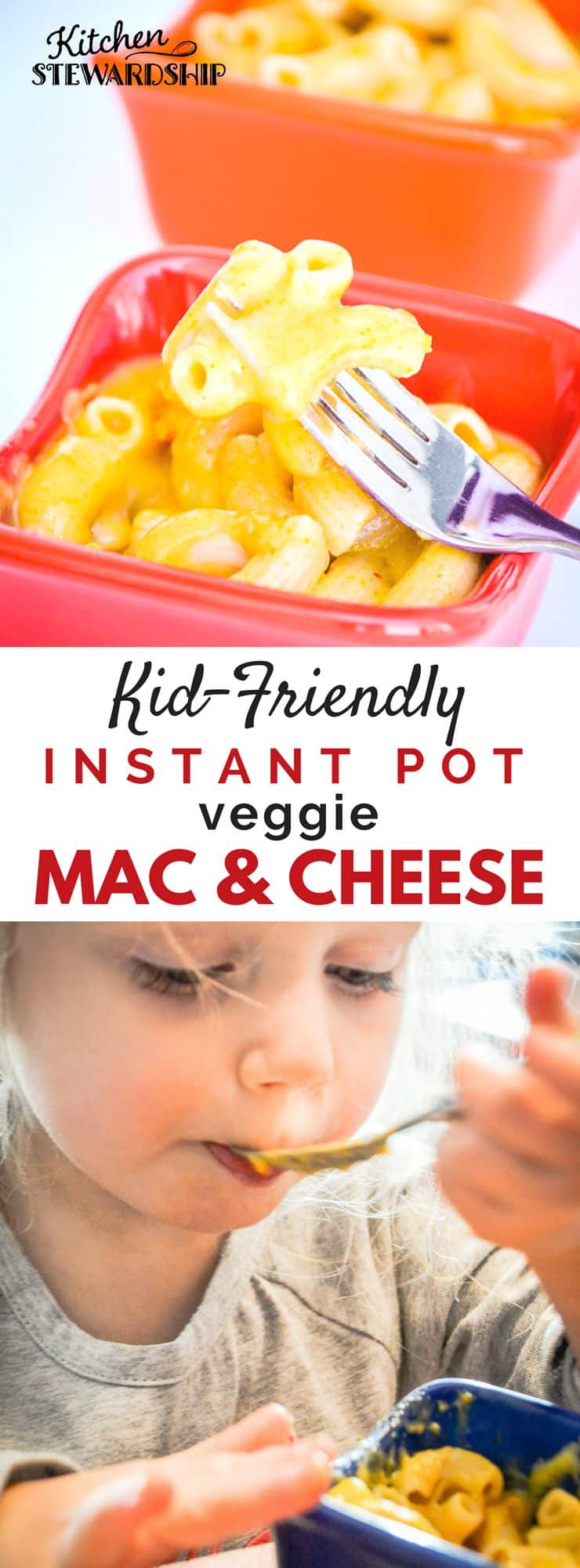 Instant Pot Mac & Cheese - Gluten free, easy and delicious. Kid friendly dinner in no time! Full of healthy ingredients....kid tested, mom approved! Easy and healthy weeknight dinner.