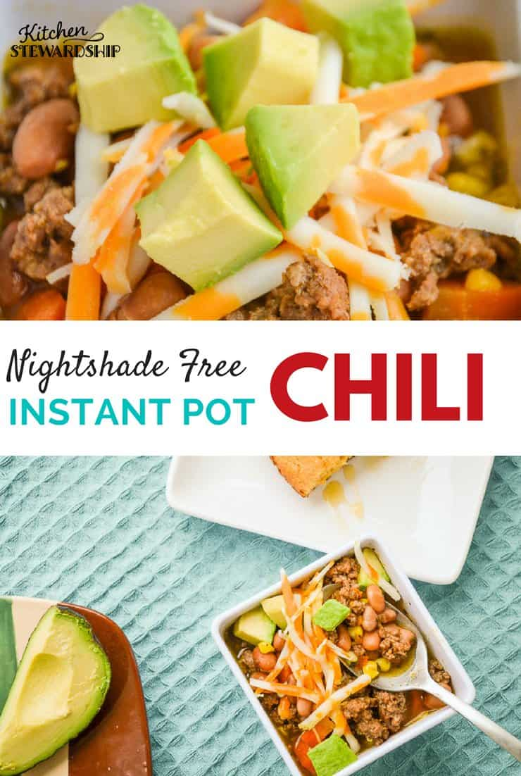 Nightshade Free Instant Pot Chili