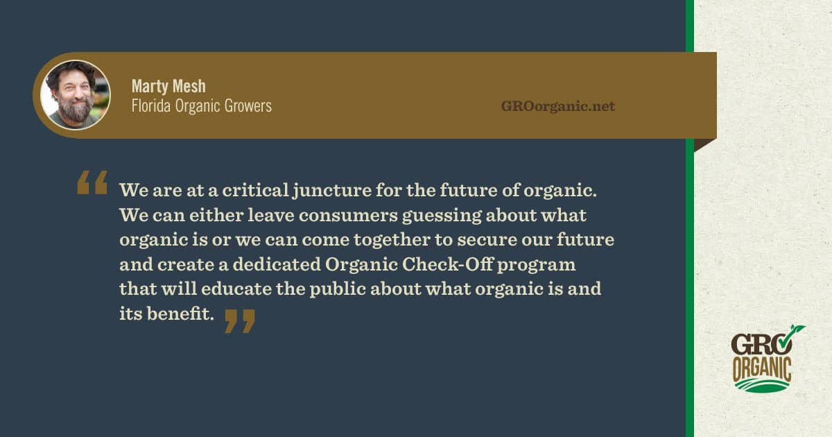 We can help organic farming grow by supporting the organic check off program. Show your support today!