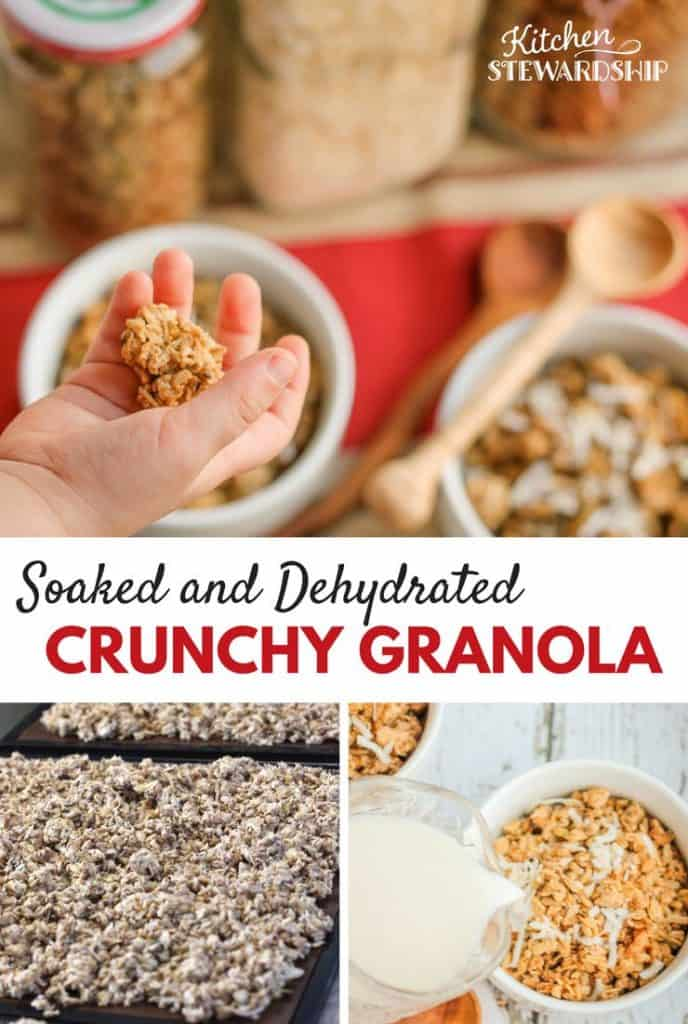 soaked and dehydrated crunchy granola - so healthy, so easy!