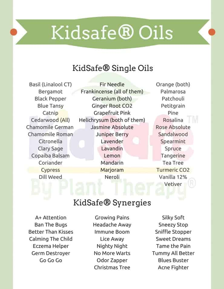Plant therapy has essential oils that are safe for kids. Follow their guide to keep things simple and safe without all the guesswork!