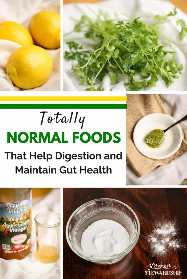 totally normal foods that help digestion, maintain gut health and