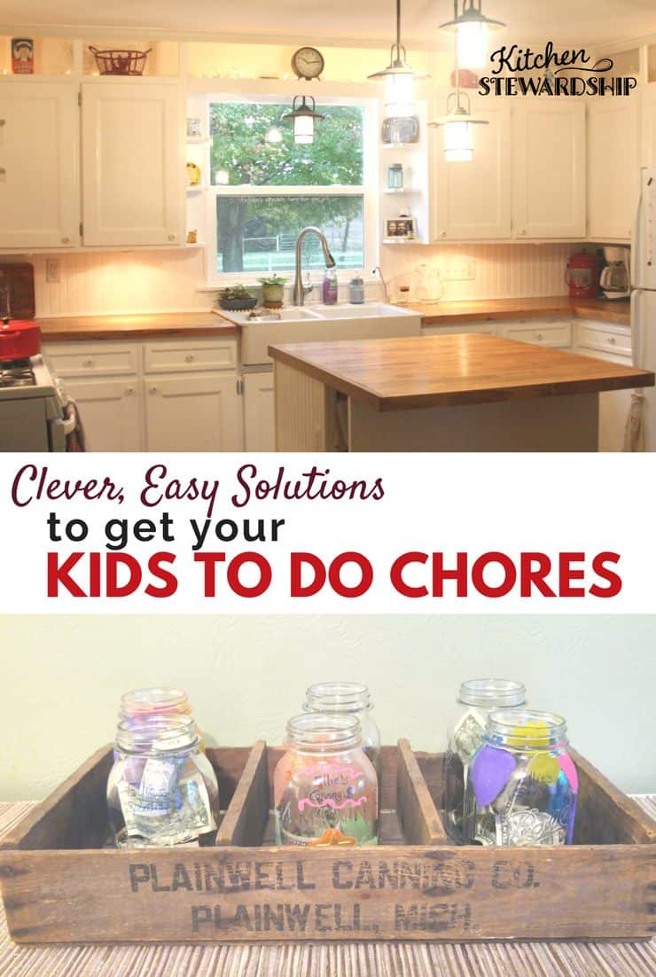 Easy solutions to get your kids to help around the house by doing chores. Chore charts and should you pay them.