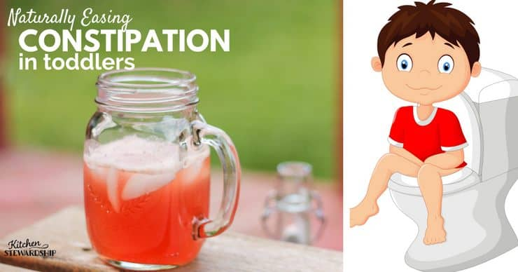 Naturally Easing constipation in toddlers. Advice and home remedies from fellow moms.
