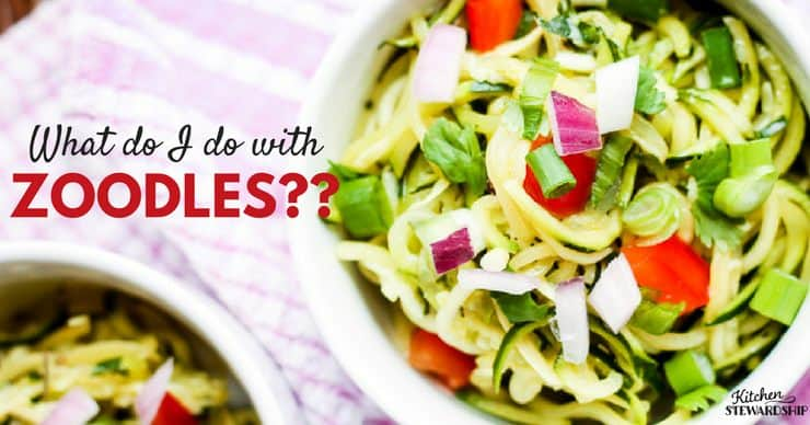 How to cook zoodles. Easy recipes and ideas on how to make these veggie pasta substitutes a staple in your home. Plus what spiralizer works the best.