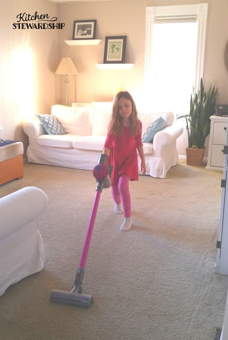 Easy solutions to get your kids to help around the house by doing chores. Invest in a cordless vacuum...lighter and easier for kids to use....no more excuses!