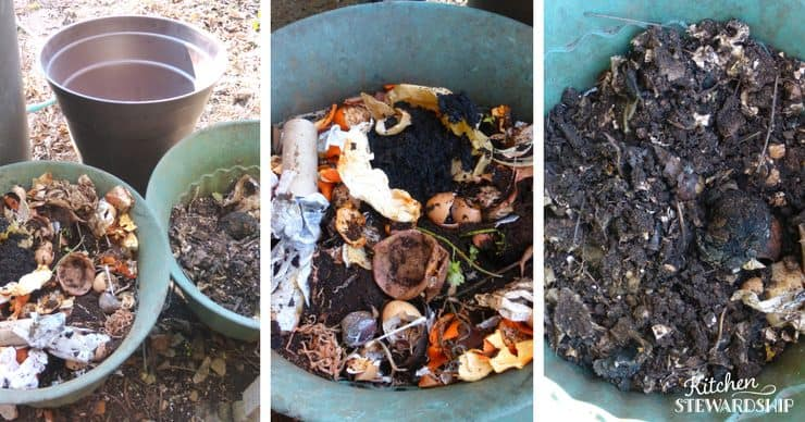 Composting the easy way - use 3 bins newest to oldest. Easy tips for getting started today and how to maintain your bins.