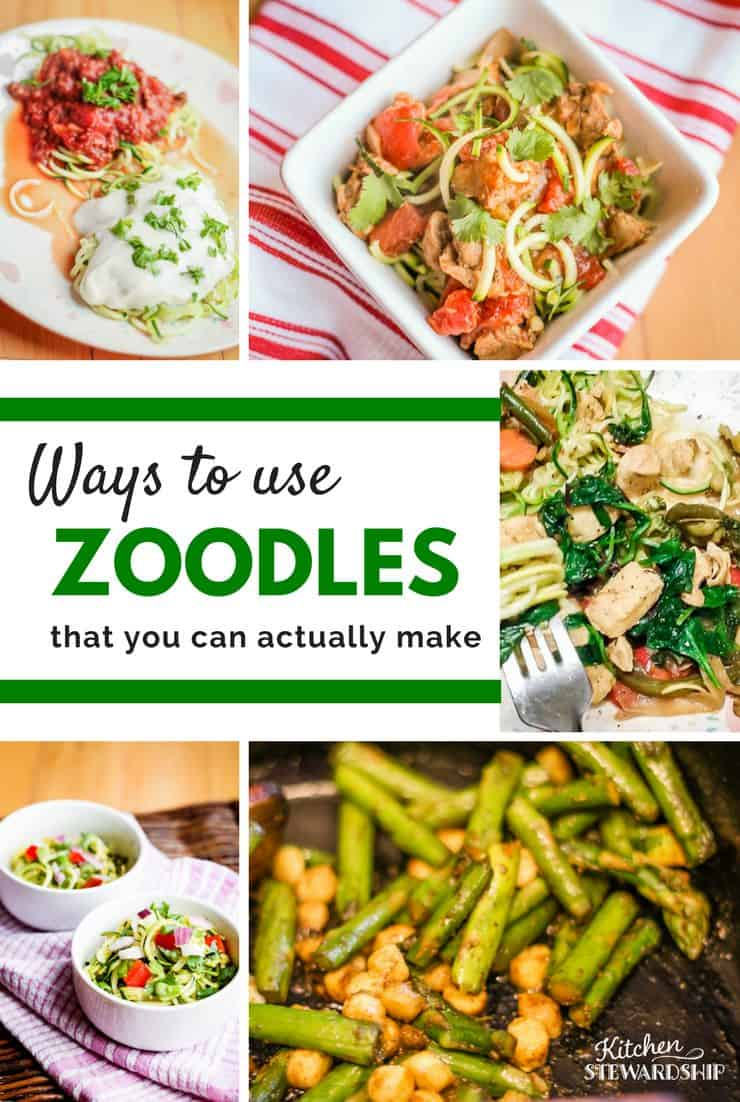 How to cook zoodles. Easy recipes and ideas on how to make these veggie pasta substitutes a staple in your home. Quick and easy recipes the whole family will love!