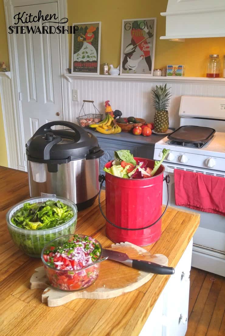 Easy steps to reduce food waste - start composting to stop putting so much waste in the landfills.