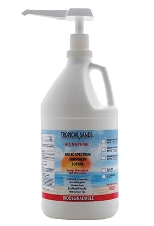 gallon of Mexitan Tropical Sands reef safe mineral sunscreen