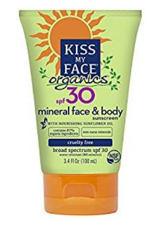 kiss my face organics spf 30 sunscreen
