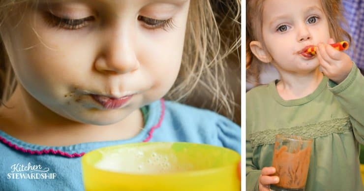 Nourish your picky eater with smoothies. This mom has great advice for kids with SPD and other picky eating issues. Try this peach cobbler smoothie today! Easy and delicious.