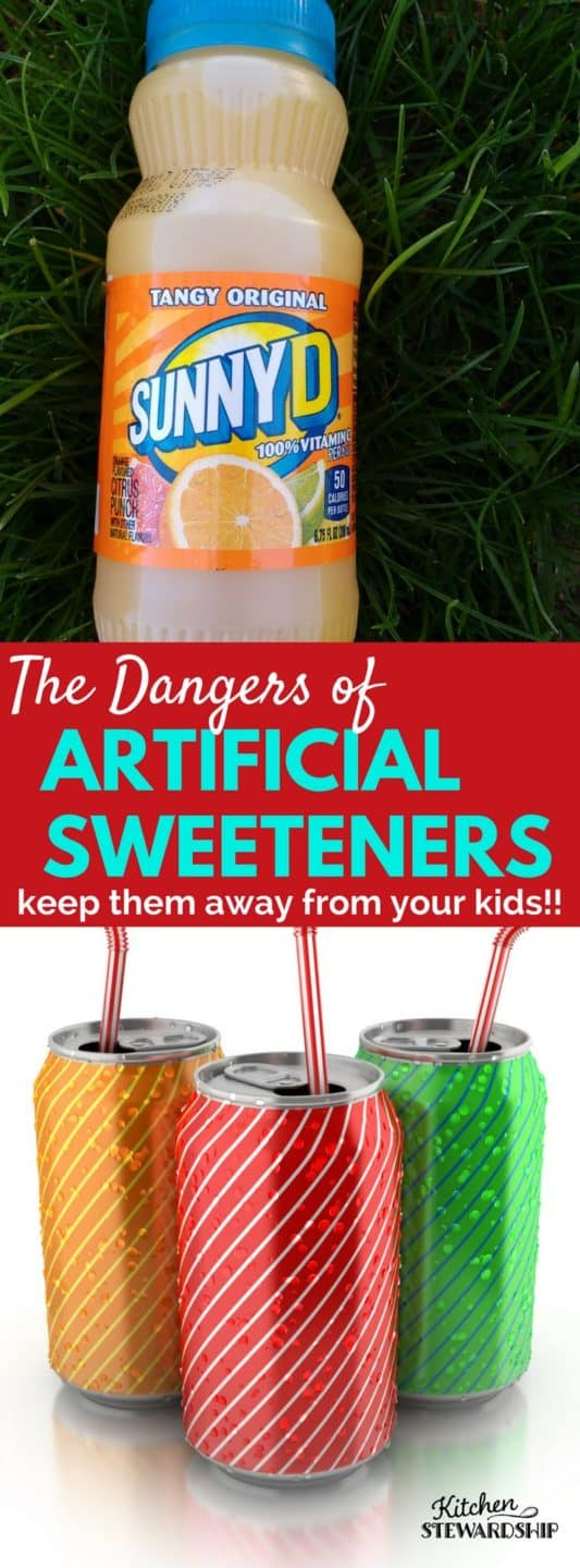 Why artificial sweeteners are dangerous and how to keep them away from our kids. From a mom who has done the research. It's time to stop feeding out kids these dangerous chemicals and just eat real food!