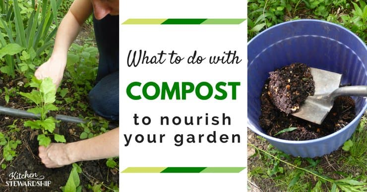 Using compost in your garden for better soil and healthier plants.