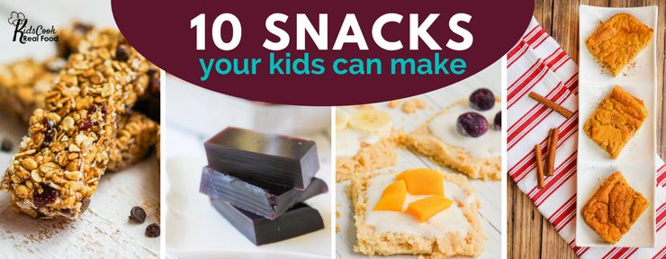 10 Snacks Your Kids Can Make