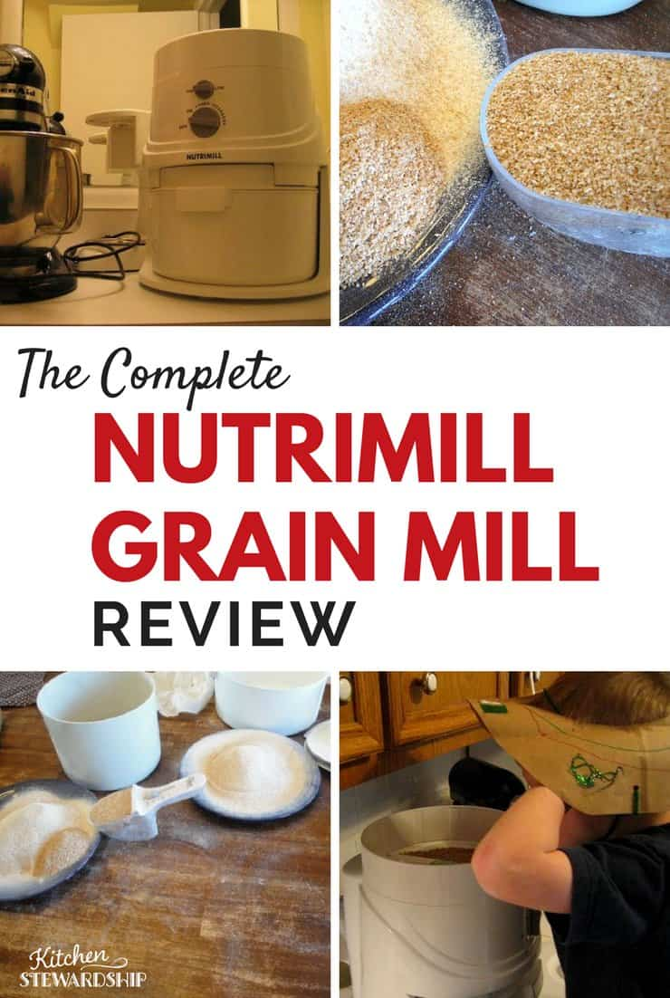 Nutrimill Grain Mill Review Grinding Fresh Wheat Flour
