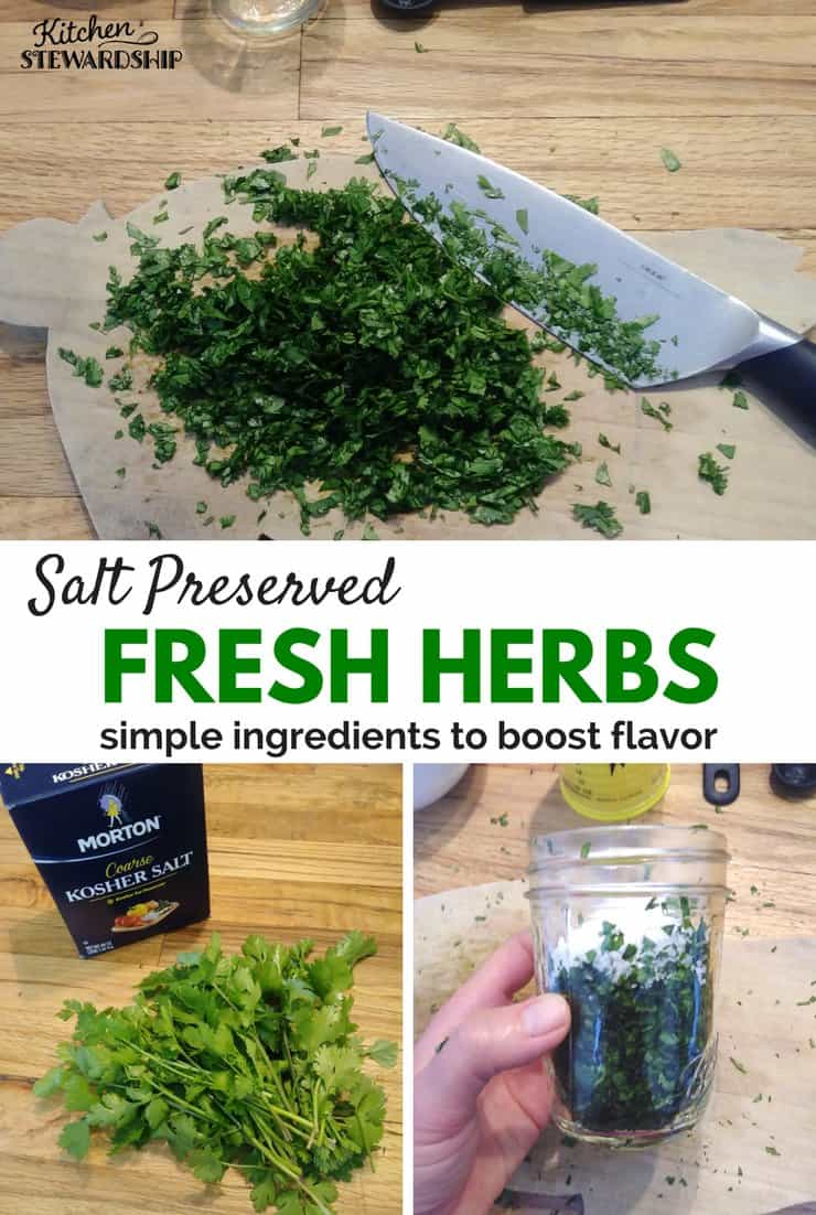 Salt Preserved Fresh Herbs
