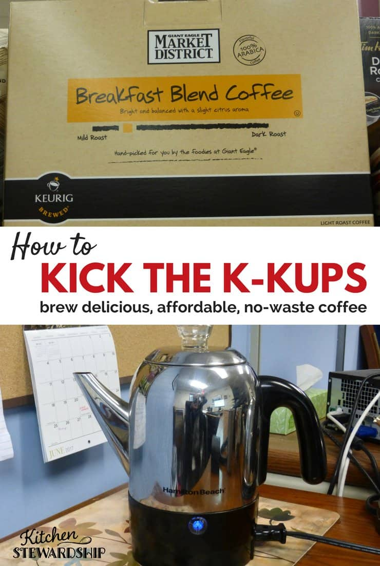 Easy ways to brew your own coffee without using k cups. Save money an the Earth! These methods are just as quick and so affordable you can buy better quality coffee.