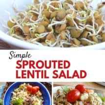 Eat Well, Spend Less: Sprouted Lentil Salad
