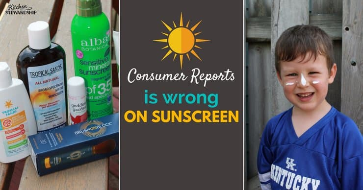 Consumer reports may be missing the mark when evaluating sunscreens. See why and what to look for when picking a safe sunscreen for your family.
