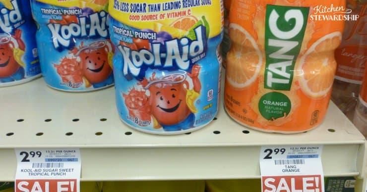 Kool-Aid on a store shelf