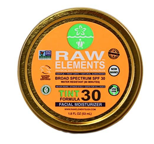 Find the best natural all day facial moisturizer with SPF. Great list and honest reviews. Raw Elements tint formula.