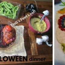 Troll's Feet & Toxic Waste Mac: Quick, Healthy Fun for Halloween Dinner {GUEST POST}